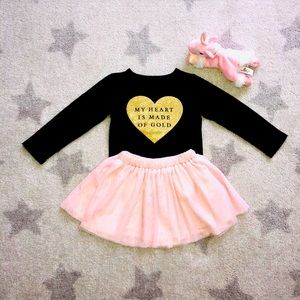 🎉HP!!🤗🎉Carter's long sleeve top and tulle skirt